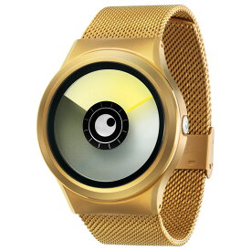 ZEROO AURORA BOREALIS ゼロ 電池式クォーツ 腕時計 [W12021B04SM04] イエロー デザインウォッチ ペア用 メンズ レディース ユニセックス おしゃれ時計 デザイナーズ