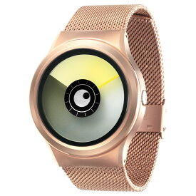 ZEROO AURORA BOREALIS ゼロ 電池式クォーツ 腕時計 [W12021B05SM05] イエロー デザインウォッチ ペア用 メンズ レディース ユニセックス おしゃれ時計 デザイナーズ