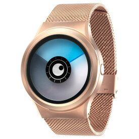 ZEROO AURORA BOREALIS ゼロ 電池式クォーツ 腕時計 [W12024B05SM05] ブルー デザインウォッチ ペア用 メンズ レディース ユニセックス おしゃれ時計 デザイナーズ