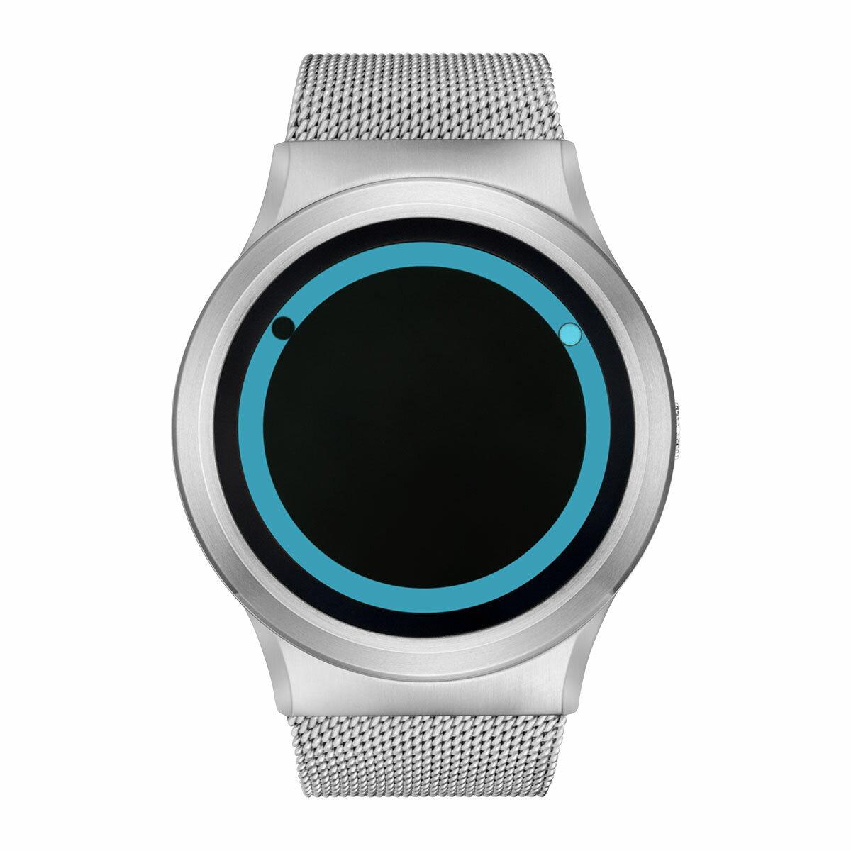ZEROO PLANET ECLIPSE ゼロ 電池式クォーツ 腕時計 [W13027B01SM01] ブルー デザインウォッチ ペア用 メンズ レディース ユニセックス おしゃれ時計 デザイナーズ