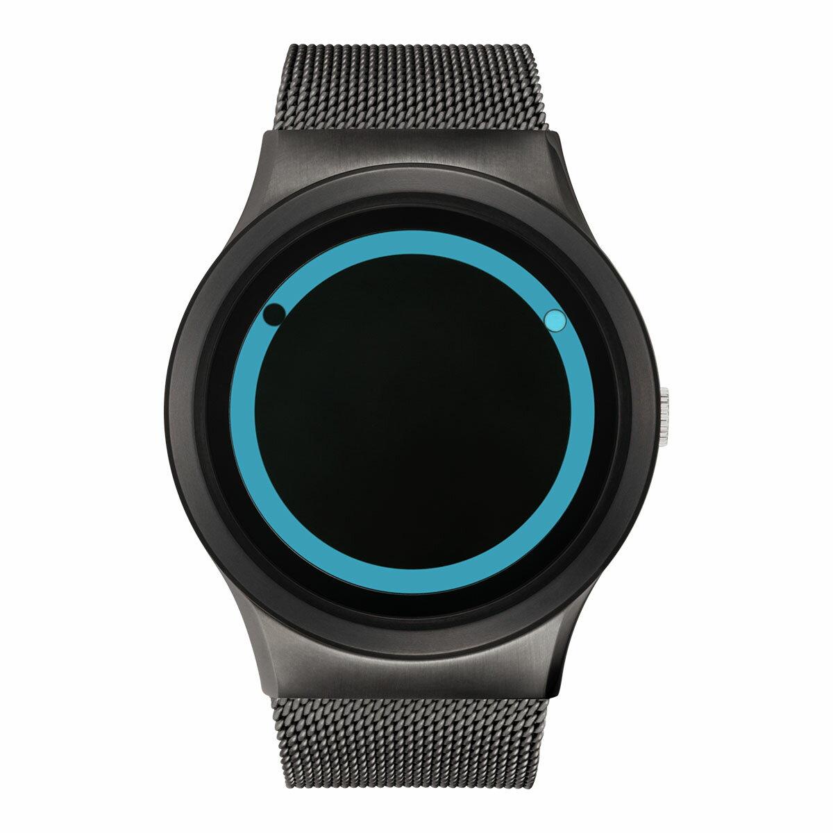 ZEROO PLANET ECLIPSE ゼロ 電池式クォーツ 腕時計 [W13027B02SM02] ブルー デザインウォッチ ペア用 メンズ レディース ユニセックス おしゃれ時計 デザイナーズ