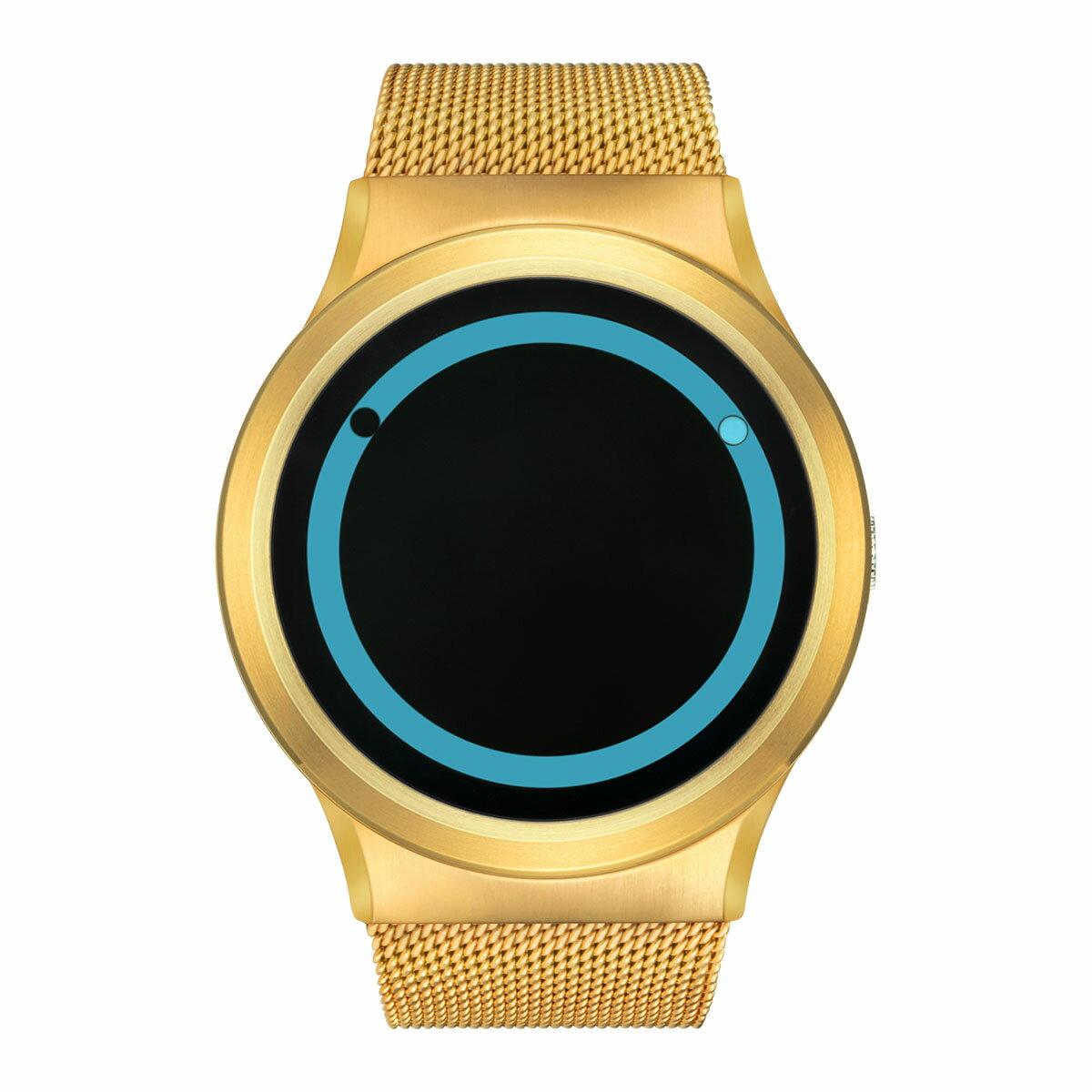 ZEROO PLANET ECLIPSE ゼロ 電池式クォーツ 腕時計 [W13027B04SM04] ブルー デザインウォッチ ペア用 メンズ レディース ユニセックス おしゃれ時計 デザイナーズ
