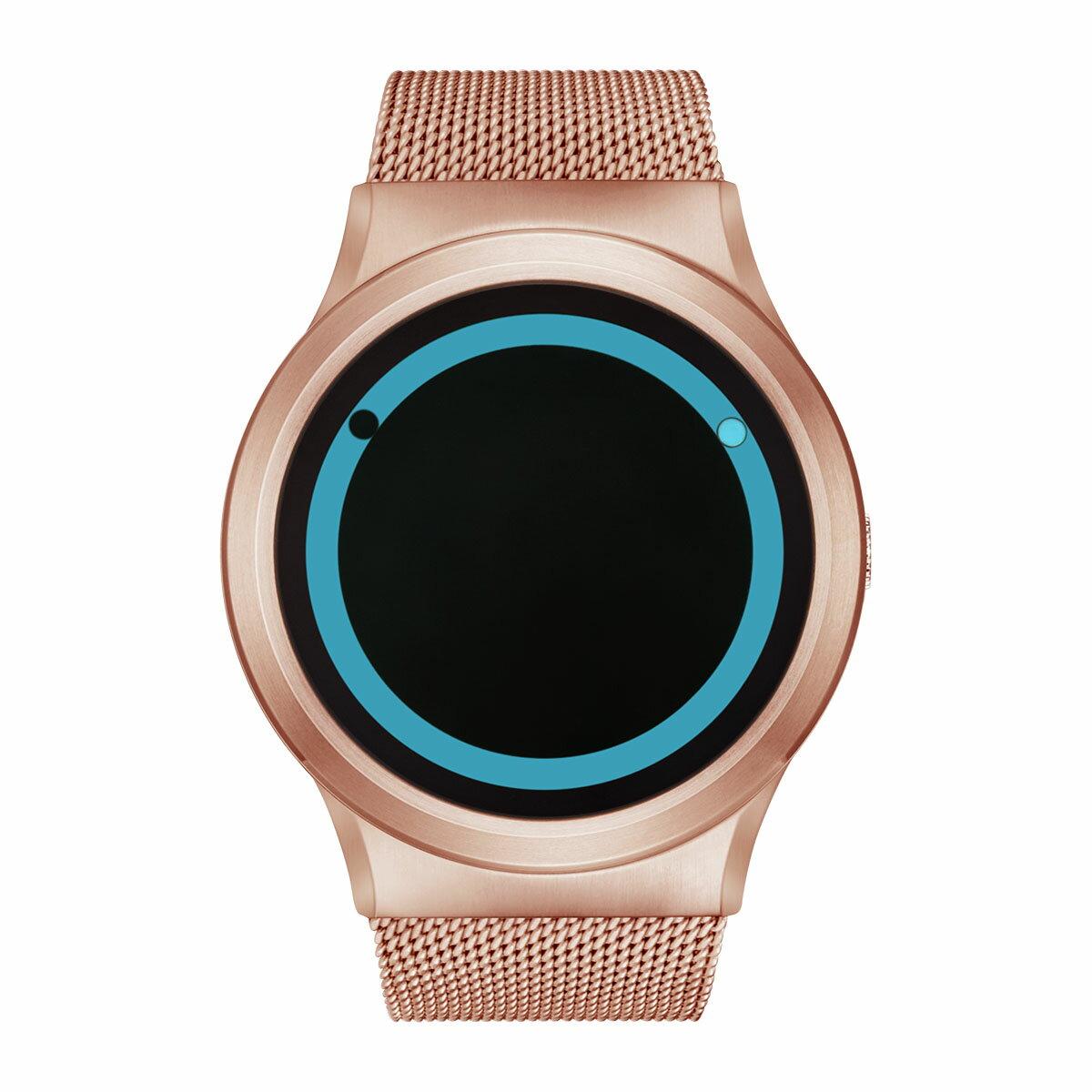 ZEROO PLANET ECLIPSE ゼロ 電池式クォーツ 腕時計 [W13027B05SM05] ブルー デザインウォッチ ペア用 メンズ レディース ユニセックス おしゃれ時計 デザイナーズ