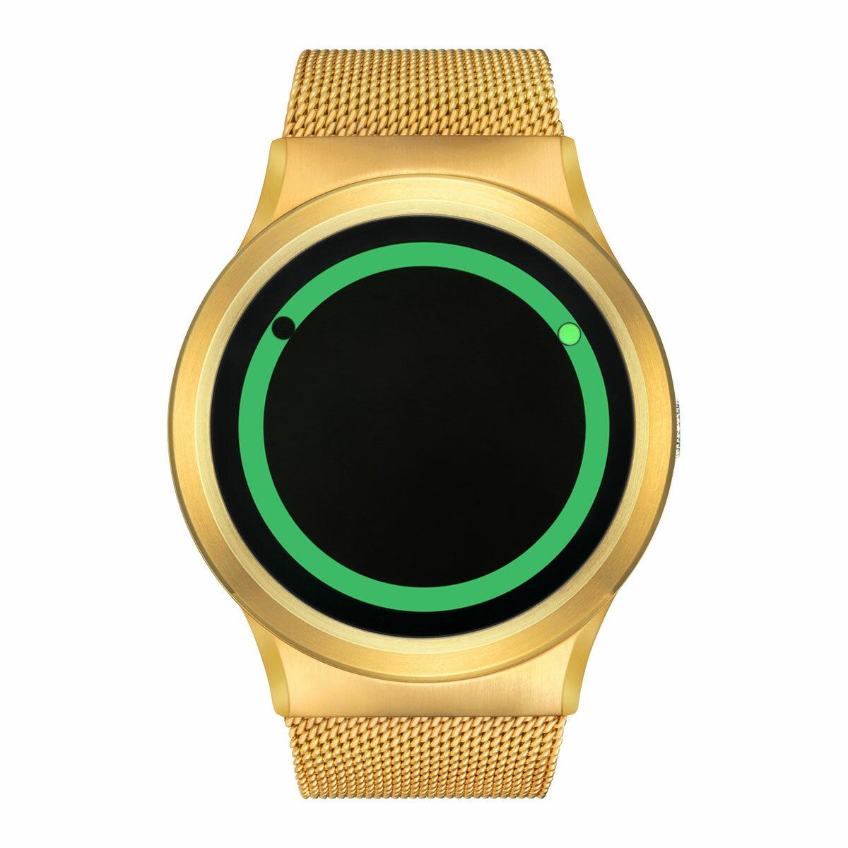 ZEROO PLANET ECLIPSE ゼロ 電池式クォーツ 腕時計 [W13028B04SM04] グリーン デザインウォッチ ペア用 メンズ レディース ユニセックス おしゃれ時計 デザイナーズ