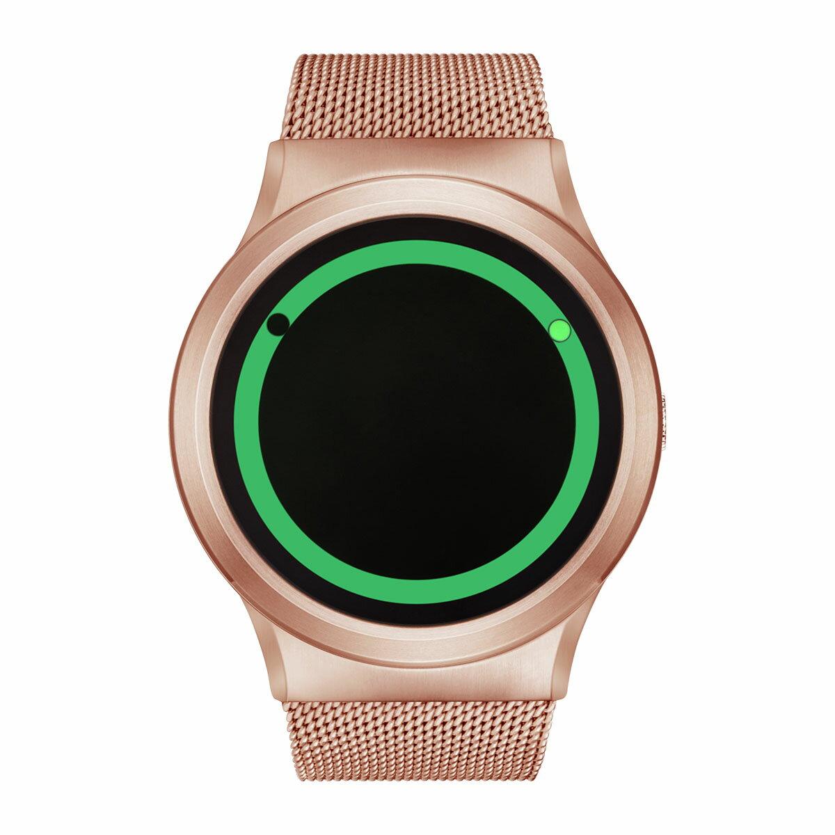 ZEROO PLANET ECLIPSE ゼロ 電池式クォーツ 腕時計 [W13028B05SM05] グリーン デザインウォッチ ペア用 メンズ レディース ユニセックス おしゃれ時計 デザイナーズ