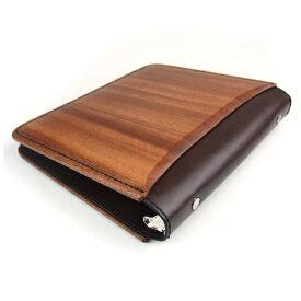 【NEW】木&革製 A5サイズシステム手帳カバー(6穴/20穴対応) 【ハンドメイド 木 革 ウッド レザー A5 手帳 カバー 雑貨 LIFE SWEET D】ギフト、プレゼント、贈答品に ※名入れサービスは終了しました。 ギフト プレゼント