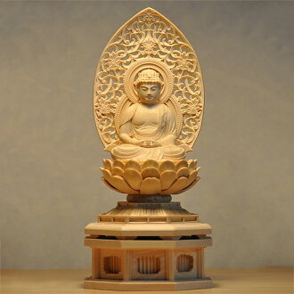 In the Amitabha Year of the Dog, Year of the Boar lucky charm principal idol wood carving Buddha statue Respect for the Aged Day gift, a present, a present