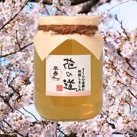 【新蜜】国産蜂蜜 花の道 早春みつ(さくら)950g