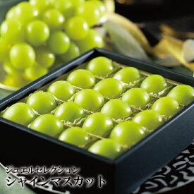 ぶどう シャインマスカット ジュエルセレクション 岡山県産 特秀 5L 20粒入り 葡萄 ブドウ