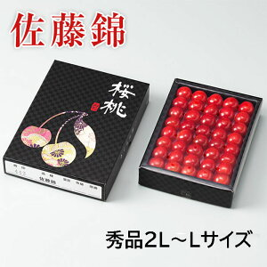 父の日ギフト さくらんぼ 佐藤錦 さとうにしき 山形県産 手詰め 秀品 2L〜Lサイズ 約500g 化粧箱