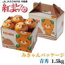 みかん 紅まどんな みきゃんパッケージ 青秀 6〜12玉 1.5kg 愛媛県産 ミカン 蜜柑