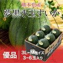 夢黒小玉すいか 熊本県産 JA鹿本 優品 L〜Mサイズ 5〜6玉 約7.5kg 送料無料 スイカ 西瓜