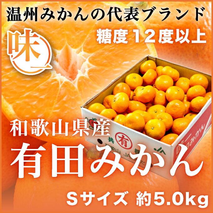 味一 プレミアム有田みかん 和歌山県産 JAありだ Sサイズ 約60玉 約5kg  送料無料 蜜柑 ミカン みかん