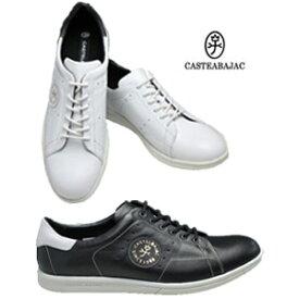 カステルバジャック メンズ 靴 本革 大人 スニーカー カジュアルシューズ 本革 CASTELBAJAC 12190 ブラック ホワイト 軽量 おしゃれ 父の日 プレゼント ギフト 30 40 50代 ファッション