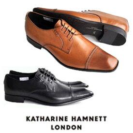 キャサリンハムネット 靴 ビジネスシューズ 本革 KATHARINE HAMNETT 3967 ブラック ブラウン メンズ 紳士 ストレートチップ レザーシューズ ビジカジ