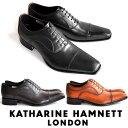 キャサリンハムネット 靴 ビジネスシューズ 本革 KATHARINE HAMNETT 31504 ブラック ダークブラウン ブラウン メンズ 紳士 ストレートチップ レザーシューズ ビジカジ