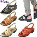 パンジー 靴 サンダル Pansy 5475 ブラック 歩きやすい 母の日 ギフト プレゼント