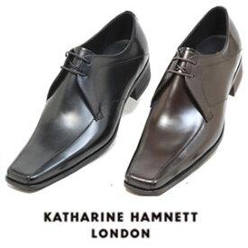 キャサリンハムネット メンズ 靴 ビジネスシューズ 革靴 紳士靴 本革 ブランド スワロートゥ レザーシューズ KATHARINE HAMNETT 3948 ブラック ダークブラウン