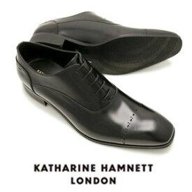 キャサリンハムネット メンズ 靴 ビジネスシューズ 革靴 紳士靴 本革 ブランド ストレートチップ レザーシューズ KATHARINE HAMNETT 3949 ブラック