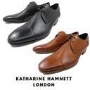キャサリンハムネット 靴 ビジネスシューズ 本革 KATHARINE HAMNETT 31586 ブラック ブラウン メンズ 紳士 ストレート…