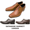 キャサリンハムネット 靴 ビジネスシューズ 本革 KATHARINE HAMNETT 31603 ブラック ダークブラウン ブラウン メンズ 紳士 Uチップ レザーシューズ ビジカジ