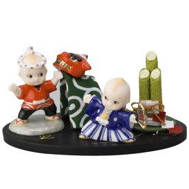 ローズオニールキューピー人形 キューピー歳時記フィギュアセット1月「お正月」獅子舞/門松 Rose O'Neill Kewpie