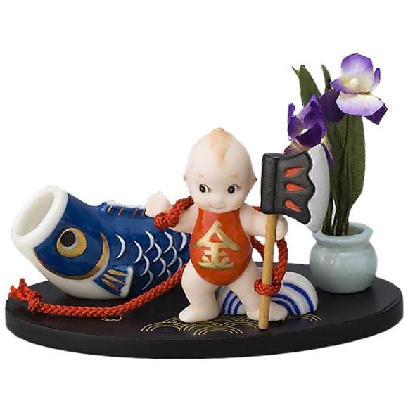 ローズオニールキューピー人形 キューピー歳時記フィギュアセット5月「金太郎/五月人形」鯉のぼり Rose O'Neill Kewpie
