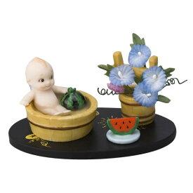 ローズオニールキューピー人形 キューピー歳時記フィギュアセット8月「水浴び」スイカ/アサガオ Rose O'Neill Kewpie