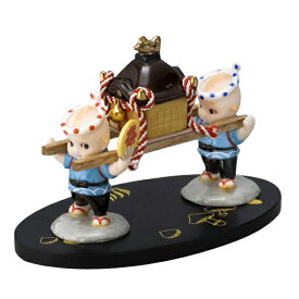 ローズオニールキューピー人形 キューピー歳時記フィギュアセット10月「秋祭り」お神輿 Rose O'Neill Kewpie