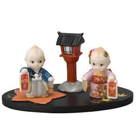 ローズオニールキューピー人形 キューピー歳時記フィギュアセット11月「七五三」千歳飴 Rose O'Neill Kewpie