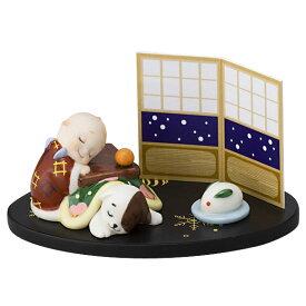 ローズオニールキューピー人形 キューピー歳時記フィギュアセット12月「こたつでうたた寝」キューピードッグ Rose O'Neill Kewpie