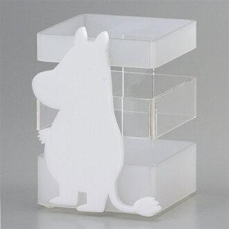 [Moomin] silhouette acrylic pot / Moomin