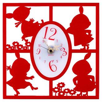 [Moomin] silhouette clock / Little My / variety