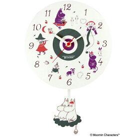 ムーミン 振り子時計 白 Moomin