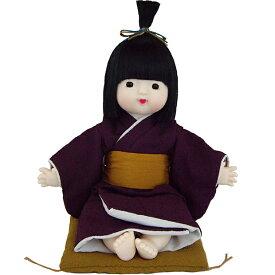 日本人形 京おさな・男の子・パープル