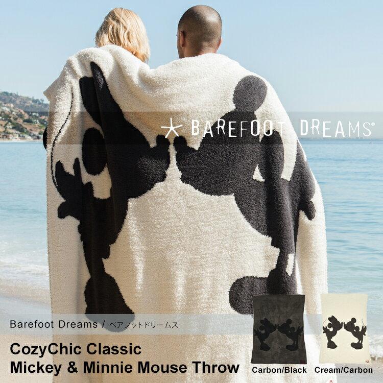Barefooot Dreams ベアフットドリームス コージーチック クラシック ディズニー ミッキー ミニー スロー 137cm×182cm CC Mickey & Minnie Mouse Throw Cream/Carbon D103