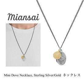 ミアンサイ ネックレス Miansai Mini Dove Necklace, Sterling Silver / Gold メンズ レディース アクセサリー ペンダント ジュエリー プレゼント マイアンサイ
