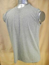 【送料無料】【消費税込】メンズ ノースリーブ 丸首 グレーTシャツ綿 100% M・L・LL紳士 スリーブレスサーフシャツ