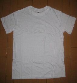 【送料無料】 メンズ 白 Tシャツ 半袖 綿100% 薄地 M・L安価一番の商品ですので、若干のキズ・汚れなどが、含まれることがあります。