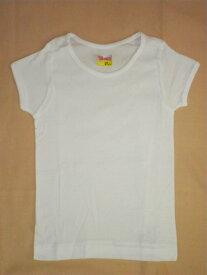 【送料無料】綿100%女の子 半袖 白Tシャツ 女の子用 子供用肌着 100〜160