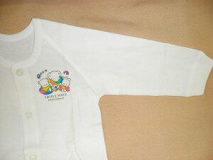 【送料無料】国産 綿100%ベビー 長袖前開きシャツ 日本製 赤ちゃん用肌着男女兼用 70・80・90