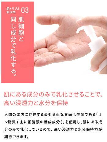 肌◯アクアモイスチャーゲル解決策03肌細胞と同じ成分で乳化する