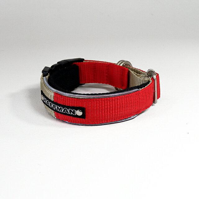 ワンタッチバックル Basic20mm幅 プラスティックバックル 犬の体重=8kgまで 犬 首輪 ナイロン(小型犬用) 痛くない苦しくない首輪 電話番号 名入れ 刺繍迷子札犬の首輪 犬用首輪