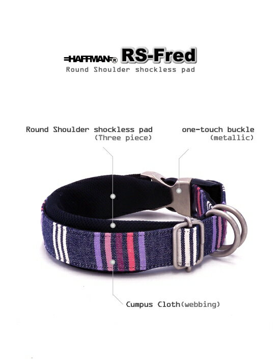 <RS>ワンタッチバックル RS-Fred 20mm幅 犬の体重=16kgまで