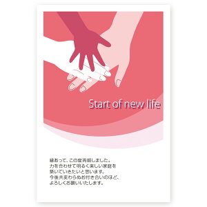 【官製はがき 10枚】再婚報告はがき・再婚お知らせ SAI-06 再婚 葉書 ハガキ 写真なし