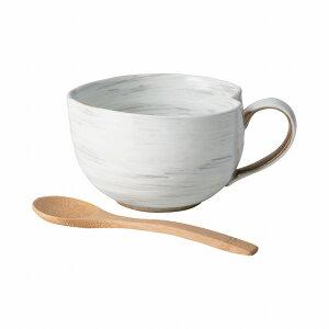 粉引 納豆鉢(さじ付) 波佐見焼 Kohiki natto small bowl with spoon Hasami ware Japanese ceramic.