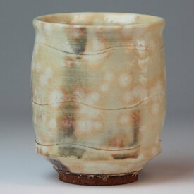 萩焼 御本手湯呑 圭一郎作 木箱入 Japanese ceramic Hagi-ware. Hagi gohonte yunomi teacup with Wooden box.