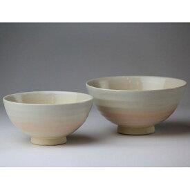 萩焼 姫土丸組茶碗(化粧箱) Hagi yaki Hime 2 bowls made in Japan. Japanese pottery. Free shipping.