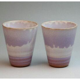 萩焼 リズムペアカップ 化粧箱入 Japanese ceramic Hagi-ware. Set of 2 rhythm teacups.