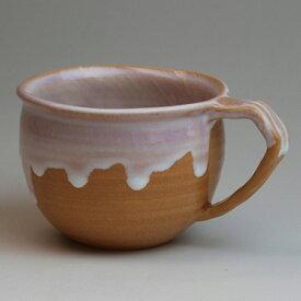 萩焼 マグカップ花 化粧箱入 Japanese ceramic Hagi-ware. Hana mug cup.